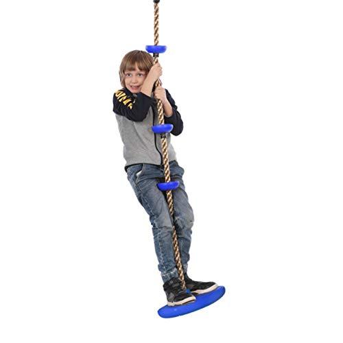 Columpio de Disco para Escalada, Columpio para niños suspendido, Plataforma Fija para pies, Patio Trasero al Aire Libre, Cuerda para Escalar, Columpio Anudado, 2 Piezas