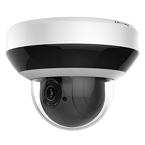 Anpviz 4.0MP POE IP PTZ Dome Camera Compatible with Hikvision ,4X Optical, 16X Digital Zoom, H.265+ Outdoor Mini Security Camera with Audio, Alarm, Pan & Tilt, SD Card Slot