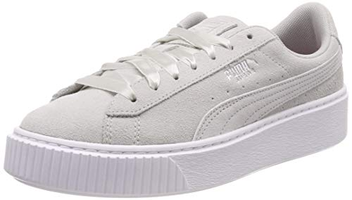 Puma Platform Galaxy Wn's, Damen Sneakers, Grau (Gray Violet-Puma Silver), 39 EU
