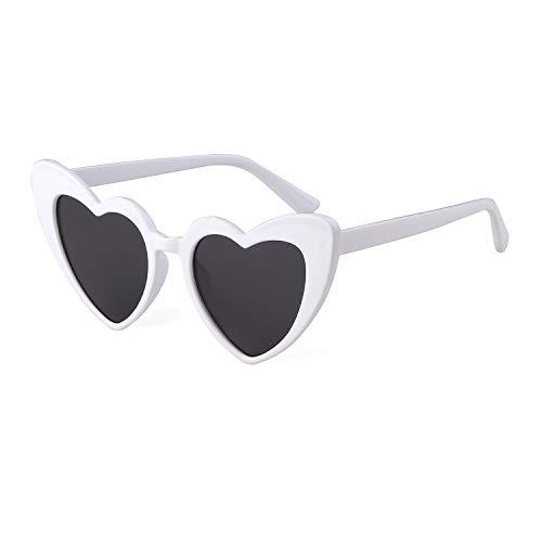 Herz Sonnenbrille Vintage Retro Fashion übergroße UV-Brille für Damen