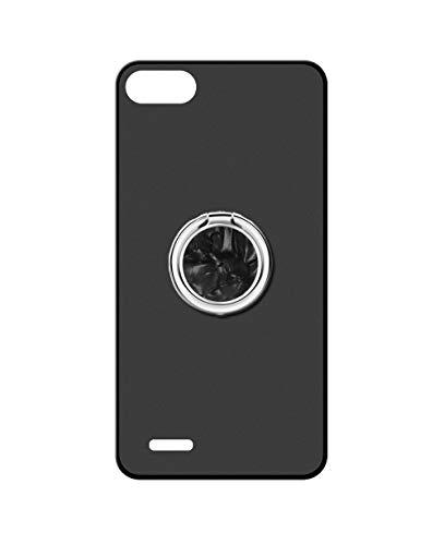 Sunrive Kompatibel mit Elephone S2 Hülle Silikon, 360°drehbarer Ständer Ring Fingerhalter Fingerhalterung Handyhülle matt Schutzhülle Etui Hülle (A5 Schwarz) MEHRWEG