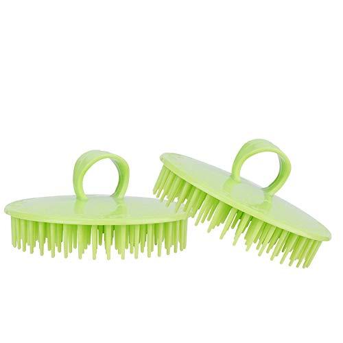 Cepillo suave del masaje del champú del cuero cabelludo que se lava de mano para la vida diaria para el peluquero para el hogar(Pink)