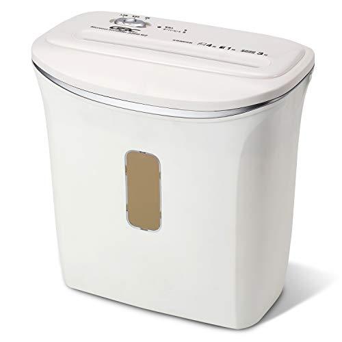 GBC シュレッダー 家庭用 小オフィス用 極小細断 マイクロクロスカット 最大細断枚数5枚 連続使用約3分 プラスチックカードも細断可能 ホチキス対応 ダストボックス10L A4/約120枚収容 マイクロカットシュレッダ GSHA28M-WZ ホワイト
