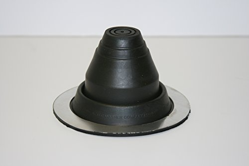 EPDM Black Round Base Pipe Flashing Master Flash #1, Pipe Range 1/4' to 2-1/2' (6.4mm to 63.5mm)
