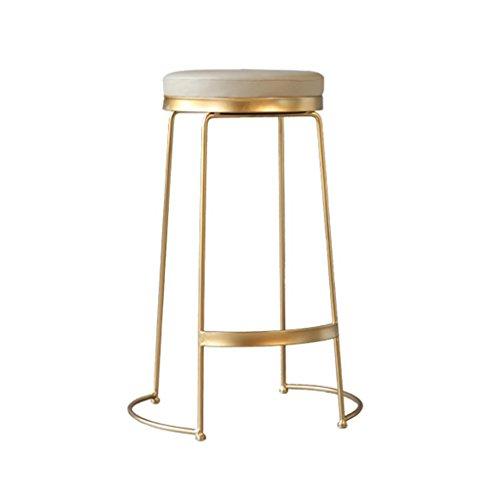 Coiffeuse Chaise, Or Fer Art Bar Ménage Forte et Robuste Créative Bar de Loisirs Comptoir Tabouret Haut Maquillage Chaise 45-75CM (taille : 65CM)