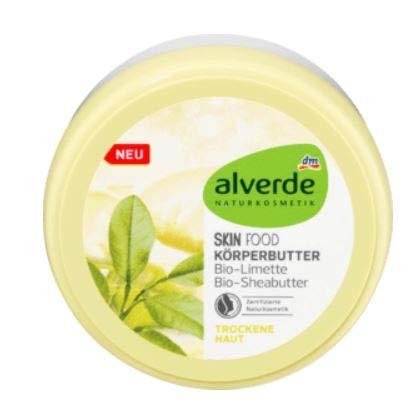 Bodybutter Skin Food - Körperbutter - Körpercreme mit Sheabutter und Limette - Naturkosmetik - Pflegt trockene Haut und spendet intensiv Feuchtigkeit - 200 ml