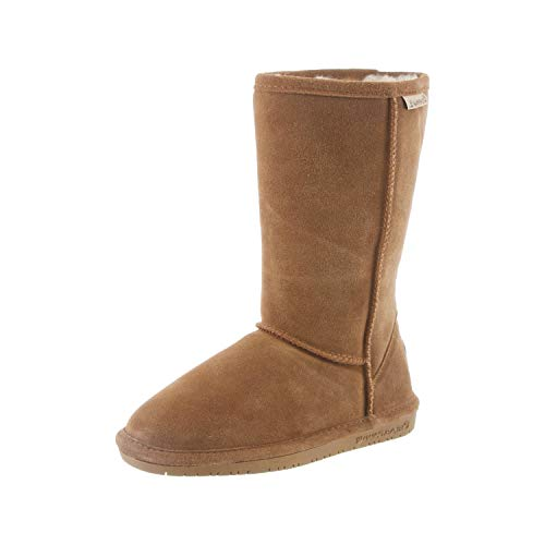 BEARPAW Emma Tall Youth Boot,Hickory/Champagne,4 M US Big Kid