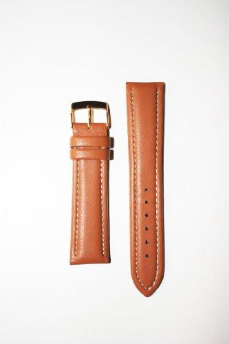 Breitling Style 20mm tan imbottiti guanti in pelle con fodera in pelle e...