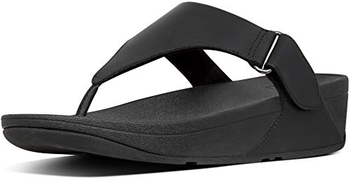 FitFlop New Women's Sarna Thong Sandal All Black 9
