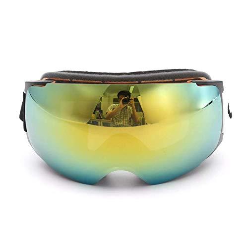 OutingStarcase. Gold Frame Snowboard Skibrille Magnet UV-Schutz Anti-Fog-Doppelobjektiv-Motorradteile Motorrad-Werkzeug