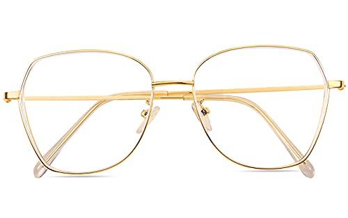 ROSA&ROSE Gafas para Ordenador Anti luz Azul - Gafas con Filtro de luz Azul bloqueo de luz azul Evita la Fatiga Ocular para Hombre y Mujer ⭐