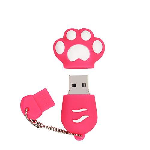 Clé USB 128 Go (Patte Rose) Clé USB 128 Go USB Flash Drive USB Mémoire Stick Thumb Drive pour Ordinateur,Télévision, Autoradio