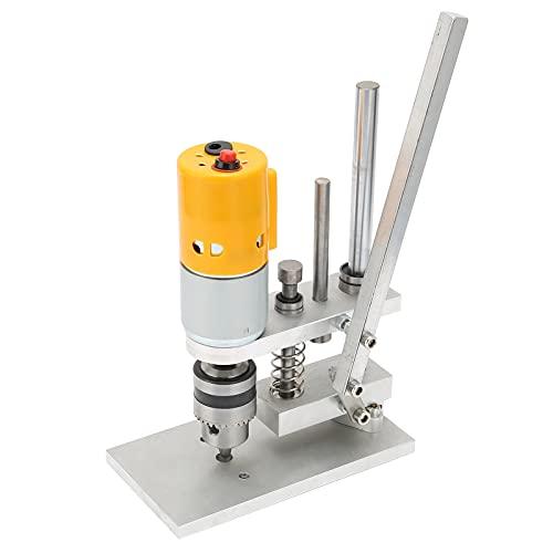 Cyrank Taladro de Banco, Prensa de Taladro de Abrazadera de Soporte eléctrico Motor de Estabilidad de núcleo de Cobre para Herramienta de reparación Manual de Bricolaje AC110‑240V(JTO(0.3-4mm))