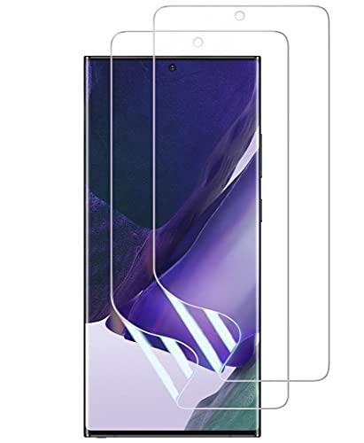 【2枚セット】Galaxy Note 20 Ultra フィルム [ZXZone] Galaxy Note 20 Ultra 保護フィルム 指紋認証が可能 TPU素材 3D設計 浮き防止 気泡レス 滑り心地 キズ修復 Galaxy Note 20 Ultra SCG06 SC-53A 対応(クリア)