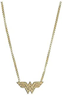 Alex and Ani Women's Wonder Woman Adjustable 21 in Necklace 14kt Gold Plated One Size