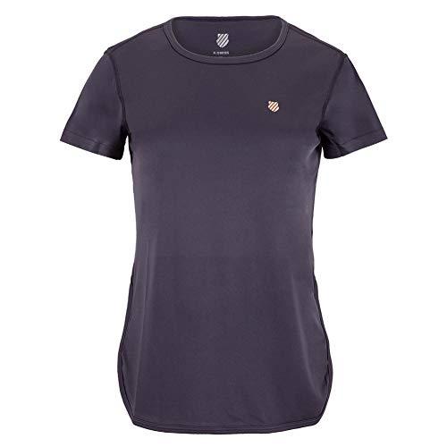K-Swiss Camiseta de tenis con manga casquillo Hypercourt para mujer () - - Small