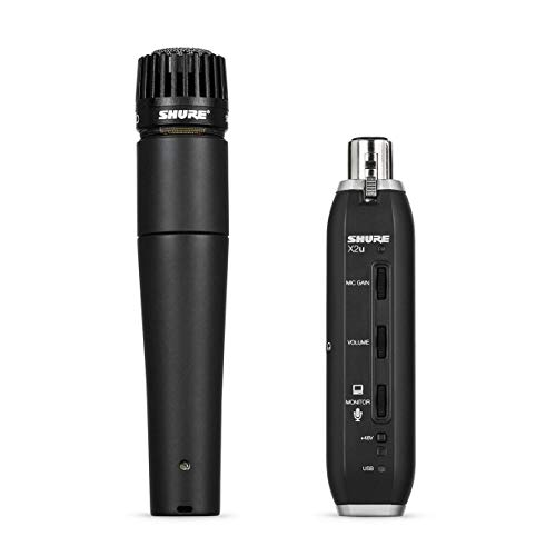 Shure X2u XLR to USB - Adaptador de Sinal com Microfone SM57