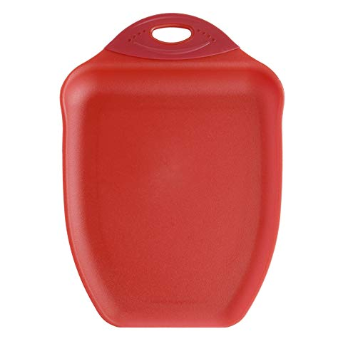 Dexas Chop & Scoop Cutting Board, 9.5 by 13 inches, Solid Red