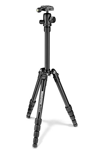 Manfrotto Element Traveller Small Aluminum 5-Section Tripod Kit with Ball Head, Element Small 56.3', Black