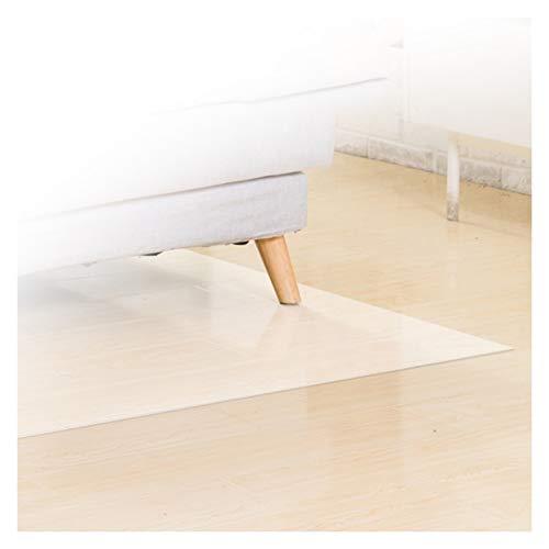 GFSD Estera La Silla de Oficina Antideslizante Estera Protección Suelo Anti-rasguños Cubierta Mesa Transparente PVC Impermeable Limpiable, Personalizable (Color : 1.3mm, Size : 90X150CM)