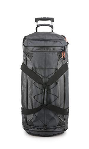 Antler Headingley Mega Decker Trolley Bag, Holdall Suitcase with Wheels - Size: XL, Colour: Grey/Orange
