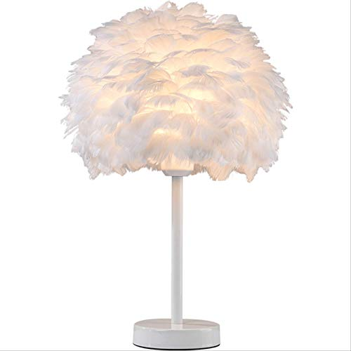 HOKVJ Lámpara De Mesa Al Lado Lámpara De Plumas Elegante Lámpara De...