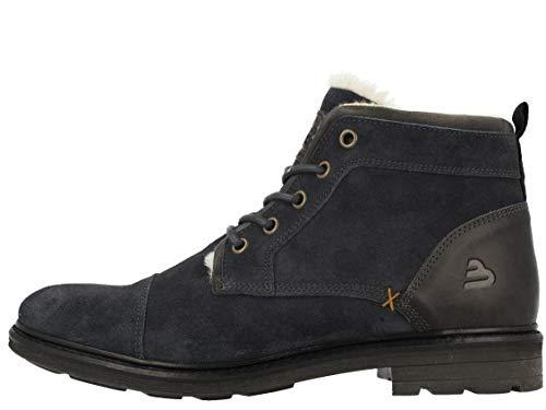 BULLBOXER Herren Stiefel, Männer Winterstiefel,Winter-Boots,Schnürstiefel,gefüttert,warm, Winter-Boots schnürstiefel warm,Navy,47 EU / 12 UK