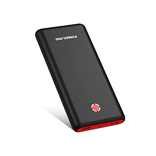 Powerbank Pilot X7 20000 mAh PD 18 W batteria esterna USB C Power Bank con funzione di ricarica rapida Power Delivery Caricatore portatile per cellulare, iPhone, Tablet, Samsung Galaxy, Huawei e rosso