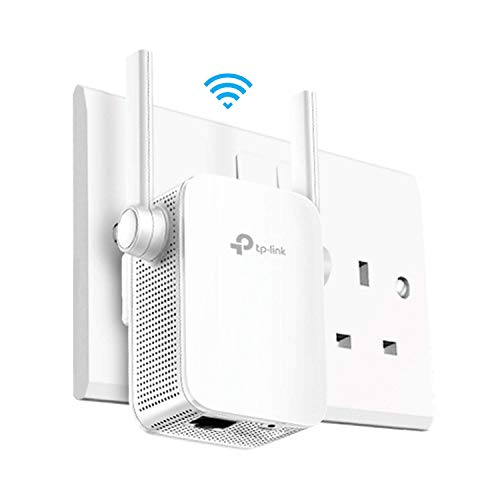 TP-Link AC1200 Universal Dual Band Range Extender, Broadband Wi-Fi Extender, Wi-Fi Booster Hotspot with 1 Ethernet Port and 2 External Antennas, Built-in Access Point Mode, UK Plug (RE305)