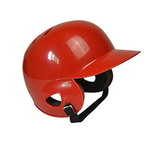 Rabusion Atmungsaktive Unisex-Ohren Full Protection Baseball Helm Head Guard - Rot