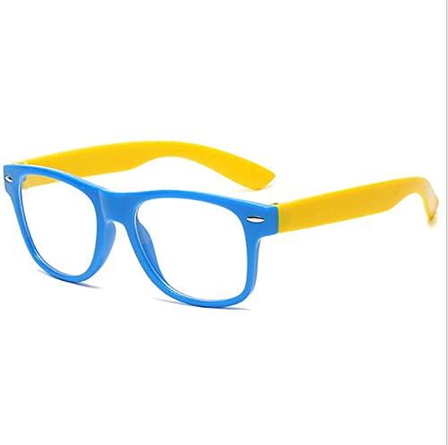 JUNMIN PC Myopia Marco óptico vidrios Anti-Azules Clase en línea de niños Anti-Radiación Gafas de teléfono móvil con Caja de Gafas (Color : Blue)