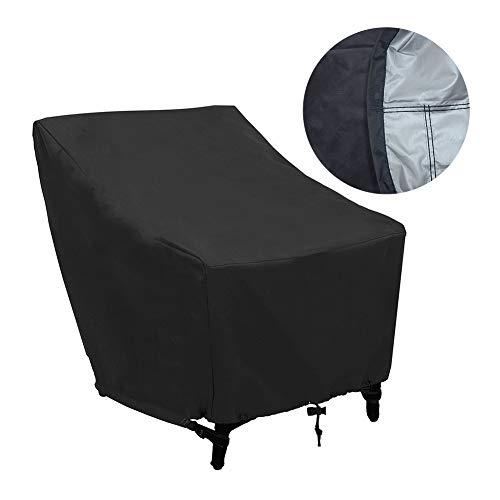 Housse de Protection pour chaises de Jardin empilables, Couverture de Patio Anti-UV/Anti-Vent/Imperméables Tissu 210D Oxford chaises empilables, Revêtement Universel pour fauteuils de Jardin(2pcs)