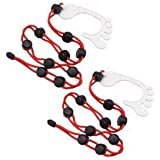 Sysoon Organizador de Calcetines, 2 Unidades, fácil de Sujetar y Cerrar, Separador de lavandería, Color Rojo