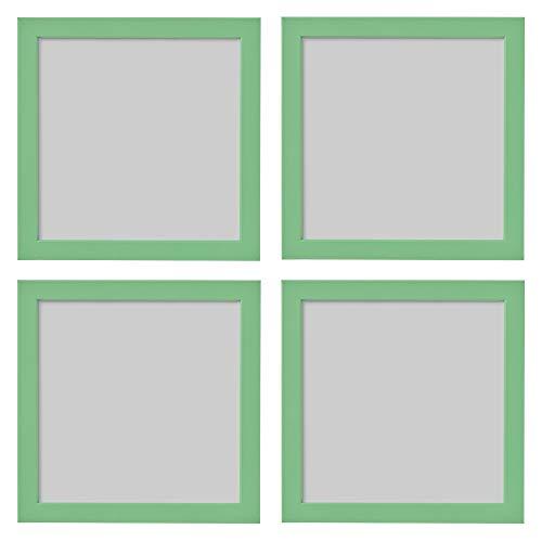 Ikea FISKBO - Marco de fotos cuadrado (21 x 21 cm, 4 unidades), color verde claro