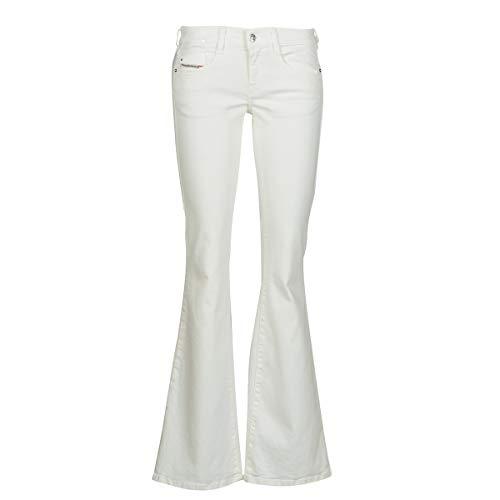 Diesel D-ebbey L.30 Pantaloni Jeans, Bianco (100 Bianco Luminoso), 30 Donna