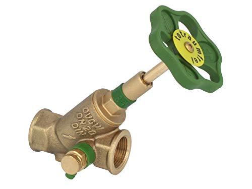 tecuro KFR-Ventil Schrägsitzventil 1 Zoll mit Entleerung für Trinkwasser DVGW zugelassen