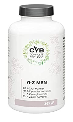 CYB A-Z Vitamins & Minerals for Men, 365 vegetarian tablets