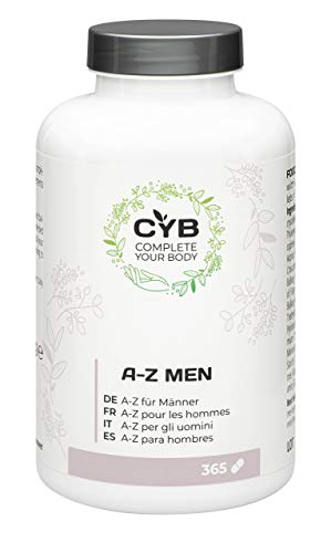 CYB A-Z Vitamins & Minerals for Men - With magnesium, zinc, selenium and more, 365 vegetarian tablets