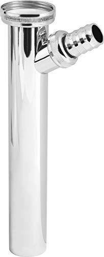 Cornat Verstellrohr - 1 1/4 Zoll x 32 mm - 200 mm Länge - mit Geräteanschluss für Waschmaschinen - aus ABS-Kunststoff - Verchromte Oberfläche / Siphon-Tauchrohr / TEC318504
