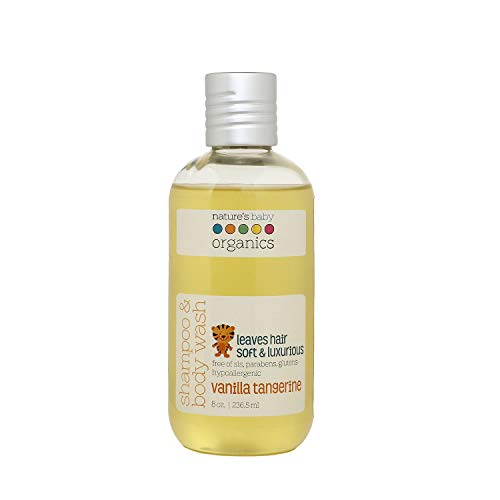Nature's Baby Organics Baby Shampoo And Body Wash, Moisturizing Tear Free Baby Shampoo All- Natural Baby Wash With Organic Ingredients, No Sulfate or...