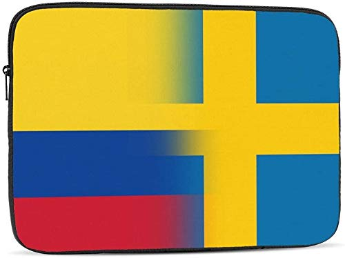 BONRI Colombia and Norway Flag Laptop Sleeve Bag Compatible with 10-17 Inch Funny Computer Bag Laptop Case-Colombia And Sweden Flag,17inch