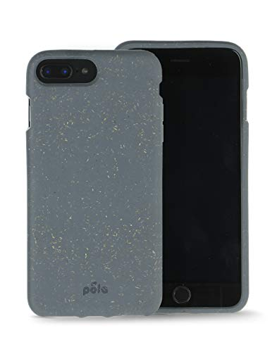 Pela - Cover Protettiva per iPhone Plus - Compostabile al 100% - Biodegradabile - Fabbricato con materie vegetali - Zero sprechi (Plus Shark)
