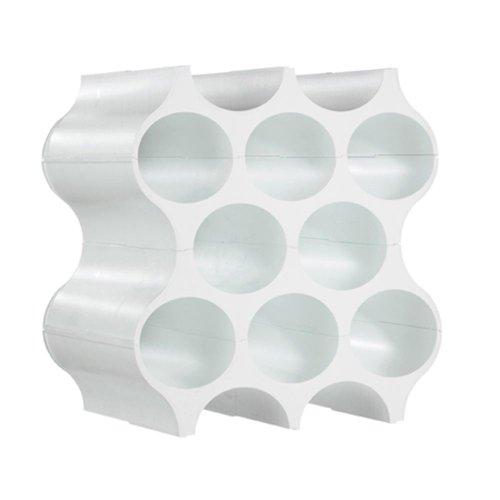 Koziol, portabottiglie (portabottiglie di Vino da Pavimento, in plastica, Bianco, Moderno)