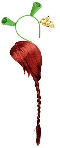 Sanctuarie Designs Women's Princess Fiona Plus Size Supersize Halloween Costume (Basic Kit #2 Only, Red Wig/Crown/Ears (No Dress))