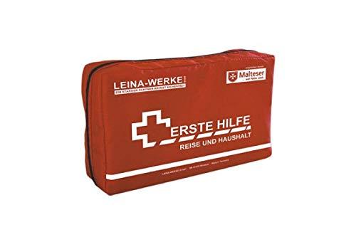 LEINA-WERKE REF 81346 Erste-Hilfe Reise- und Haushalt-Set, 27-teilig, rot