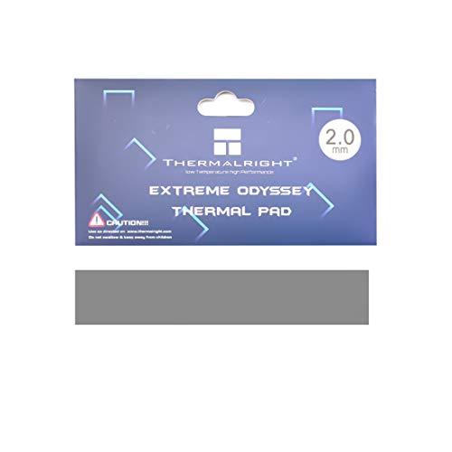 One enjoy Thermalright Pad Termico 12,8 W MK, 120x20x2mm Thermal Pad, Pad Termici in Silicone per dissipatore di Calore GPU CPU LED (2mm)