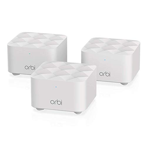 Netgear Orbi Whole Home Mesh WiFi System (RBK13) – Router Replacement Covers up to 300 sq Meters. with 1 Router & 2 Satellites