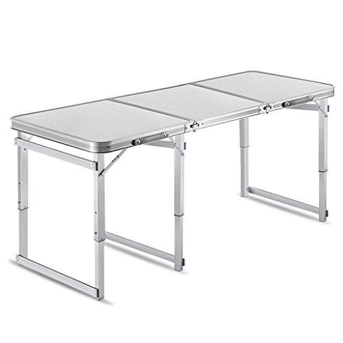 LF- Mesa Plegable de hogar Simple Mesa de Comedor Plegable Silla portátil de Aluminio pequeña Mesa Conveniencia (Color : White)