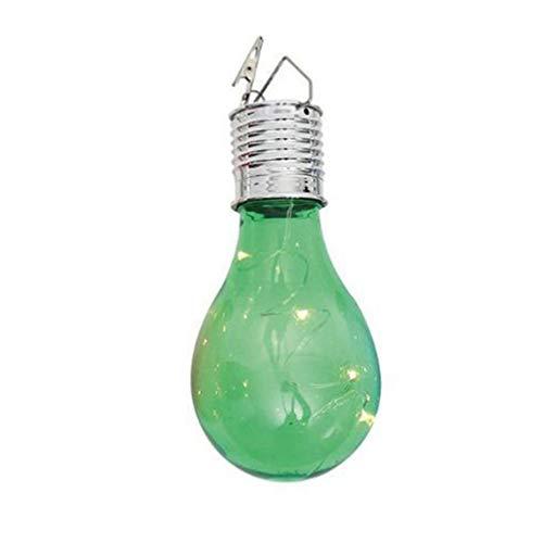 Preisvergleich Produktbild SOLUSTRE LED-Solarbirne Kunststoff im Freien Hängende Glühbirne Licht Wasserdichte Globus Lampe für Gartenterrasse Camping Home Schlafzimmer Verwenden (Grün)
