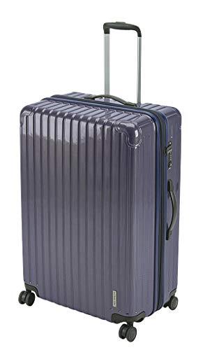 キャプテンスタッグ(CAPTAIN STAG) スーツケース キャリーケース キャリーバッグ 超軽量 TSAロック ダブルホイール 360度回転 静音 ダブルファスナータイプ Lサイズ バイオレッド パルティール UV-82